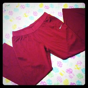 Mens XL maroon Nike Track Pants